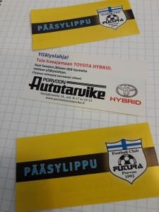 Porvoon Autotarvike Oy otteluisäntänä tänään pelattavassa miesten kolmosen kauden kotiavauksessa. FC Futura vs Puotinkylän Valtti. Porvoon pallokentällä klo 18.30. Tervetuloa katsomaan peliä, paikalla myös Toyotan uutuuksia nähtävillä.
